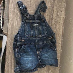 9 mo OskKosh overall shorts